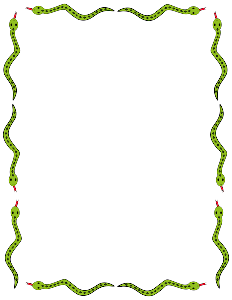 Pin by muse printables. Snake clipart border