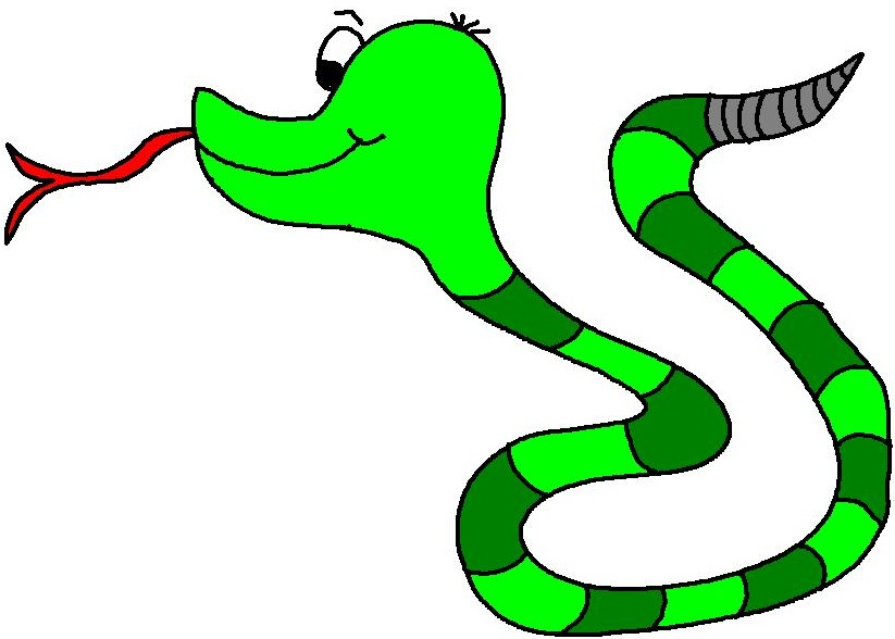 Free cartoon download clip. Snake clipart illustration