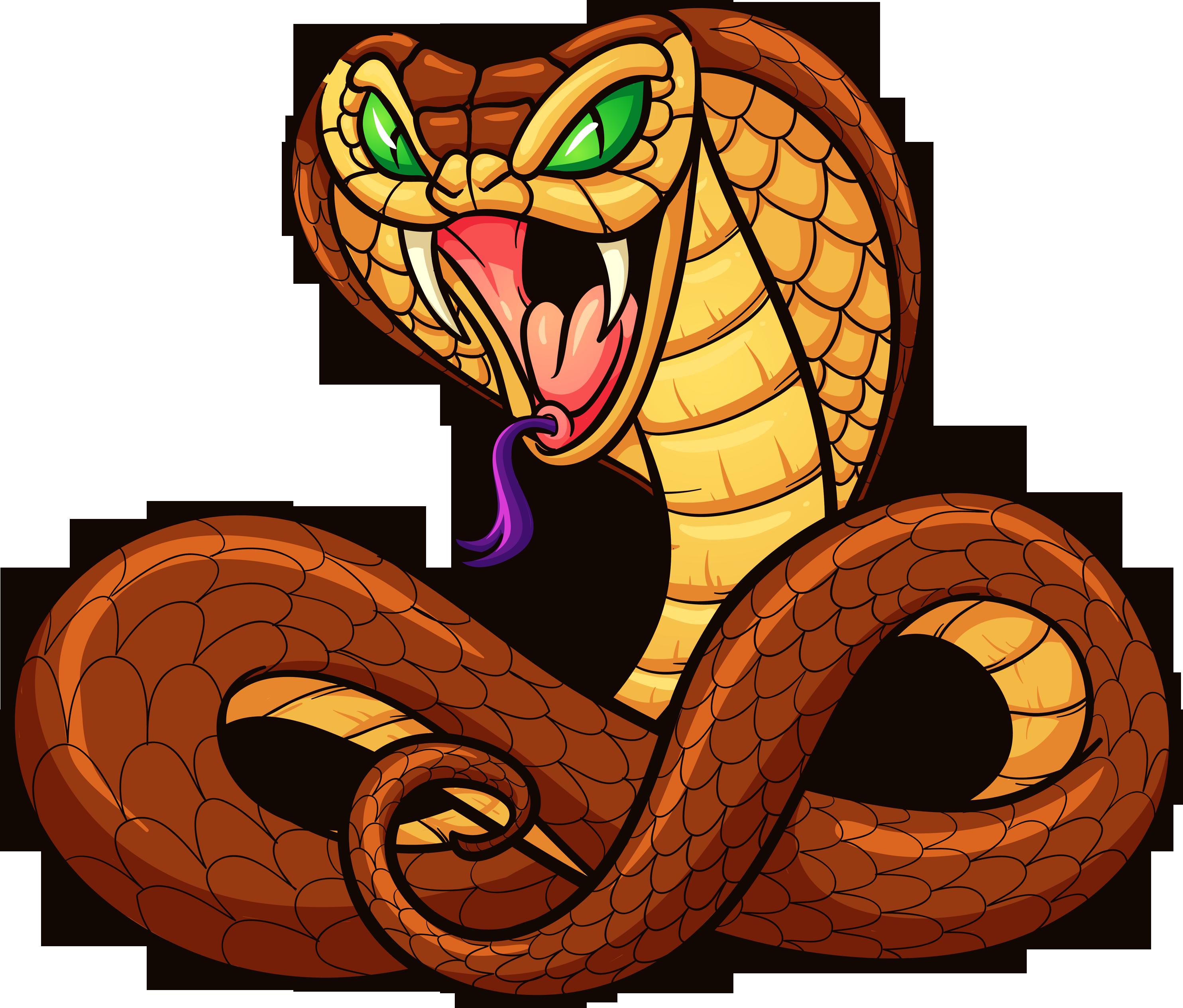 Cartoon clip art transprent. Cobra clipart snake animal