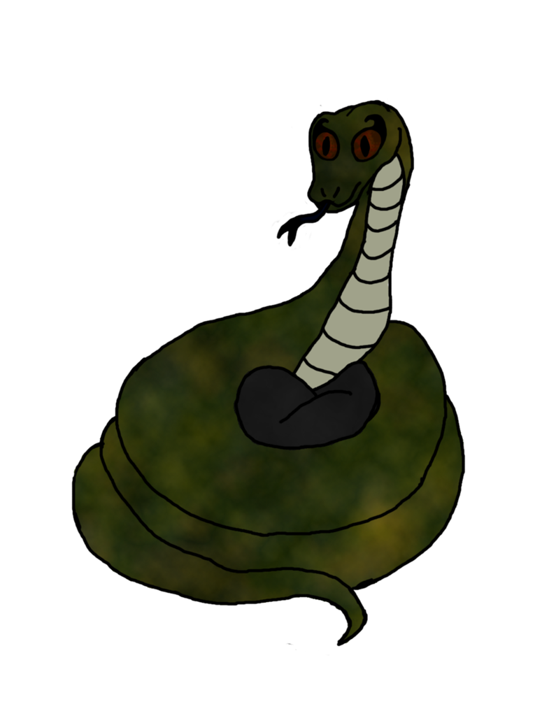Just nagini by bat. Snake clipart shadow