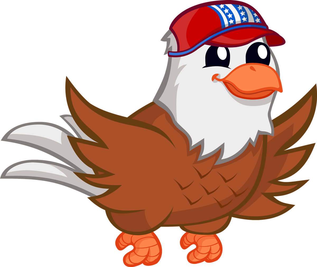 Ostrich clipart public domain. Cute eagle clip art