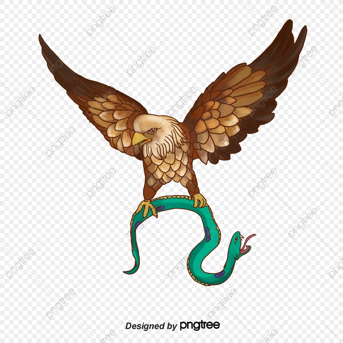 The that catches vector. Snake clipart eagle