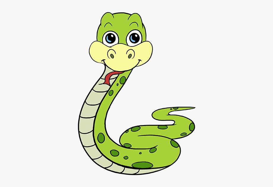 Clipart snake easy. Rattlesnake cartoon drawing