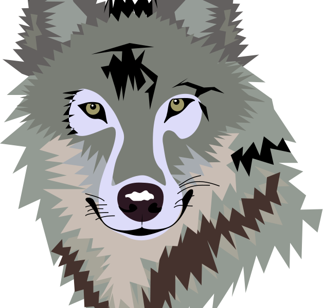 Wolf cute to draw. Clipart snake face