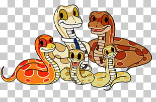 Snake clipart family.  python png cliparts