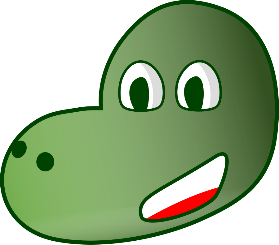 Smooth green dinosaur free. Snake clipart poison