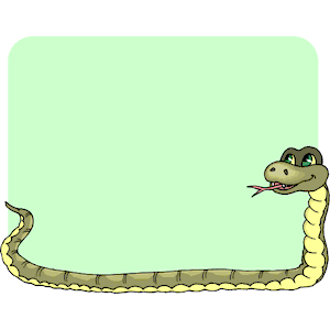 Cliparts of free download. Snake clipart frame