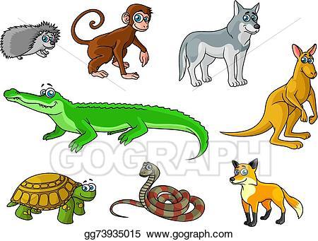 Snake clipart forest animal. Vector art cartoon and