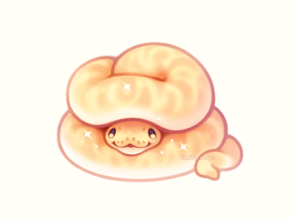 Clipart snake kawaii. A good noodle in