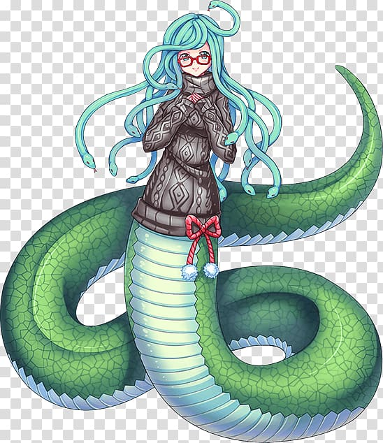 Lamia musume everyday life. Snake clipart monster
