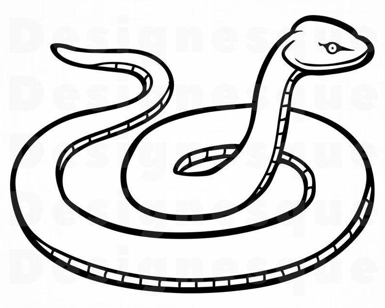 Cobra clipart outline. Snake svg serpent files