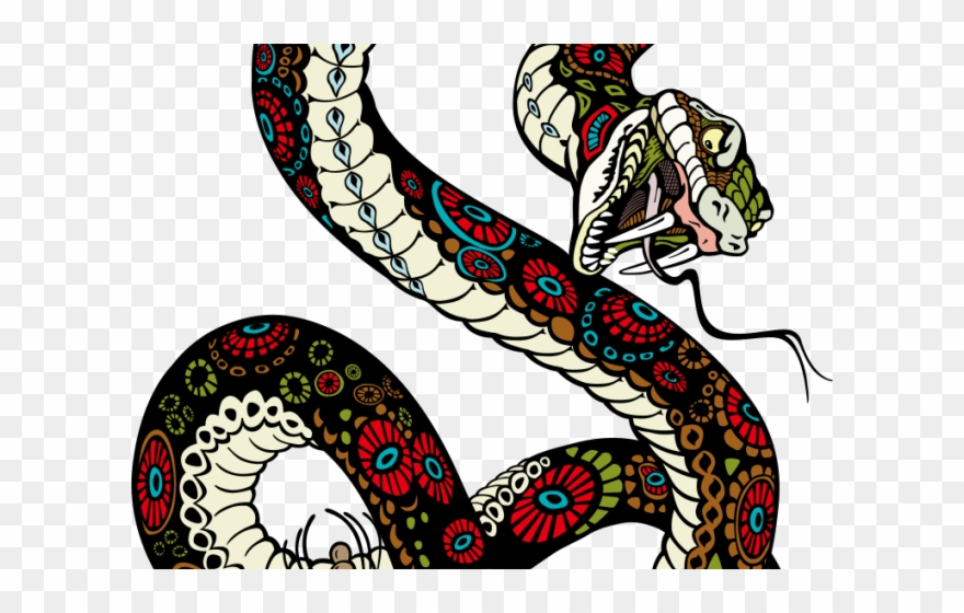 Drawn serpent pinclipart . Clipart snake tiger snake