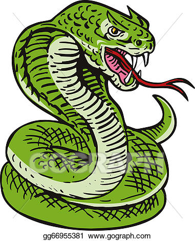 Snake clipart viper snake. Cobra stock illustration gg