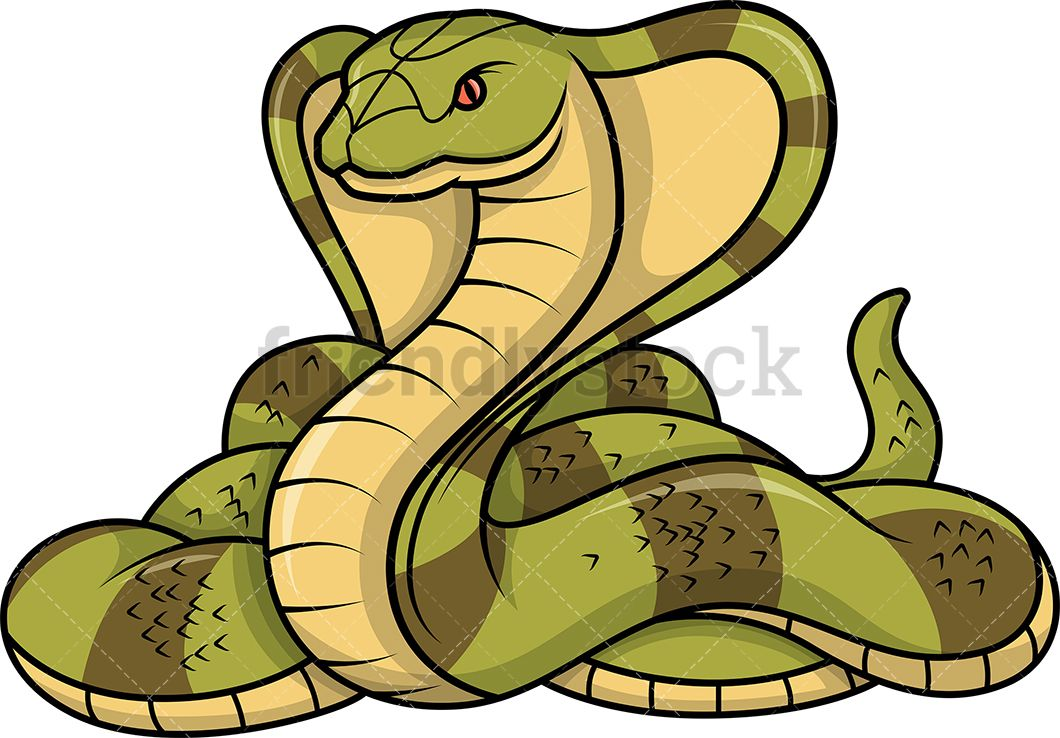 Cobra of animals clip. Clipart snake wild animal