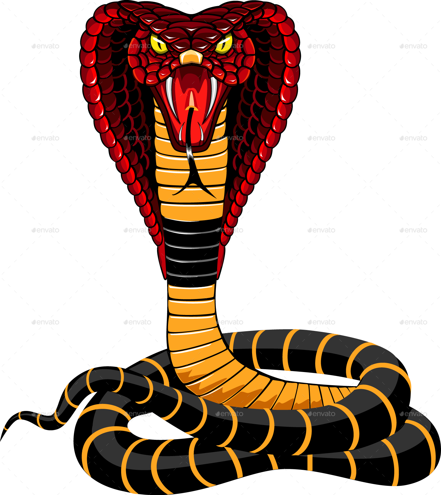 Clipart snake wild animal. Cobra illustration by ashmarka