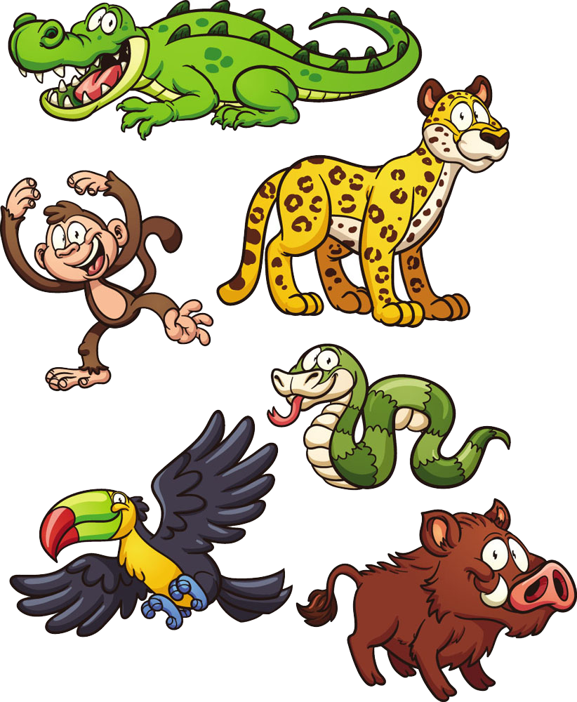 Jungle jaguar clip art. Clipart snake wild animal