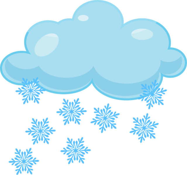 Clipart clouds winter. Snow clip art at