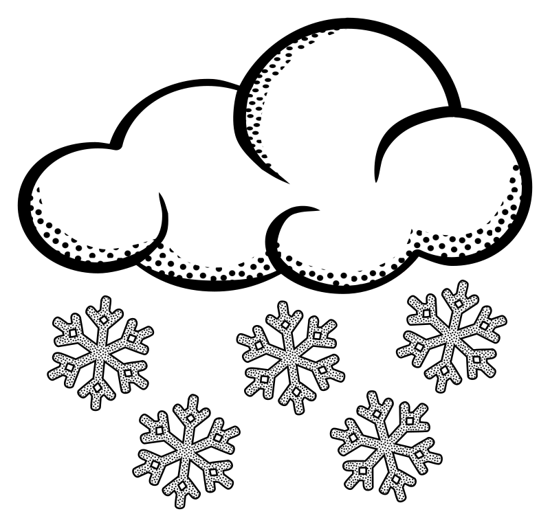 Lineart medium image png. Cloudy clipart snow