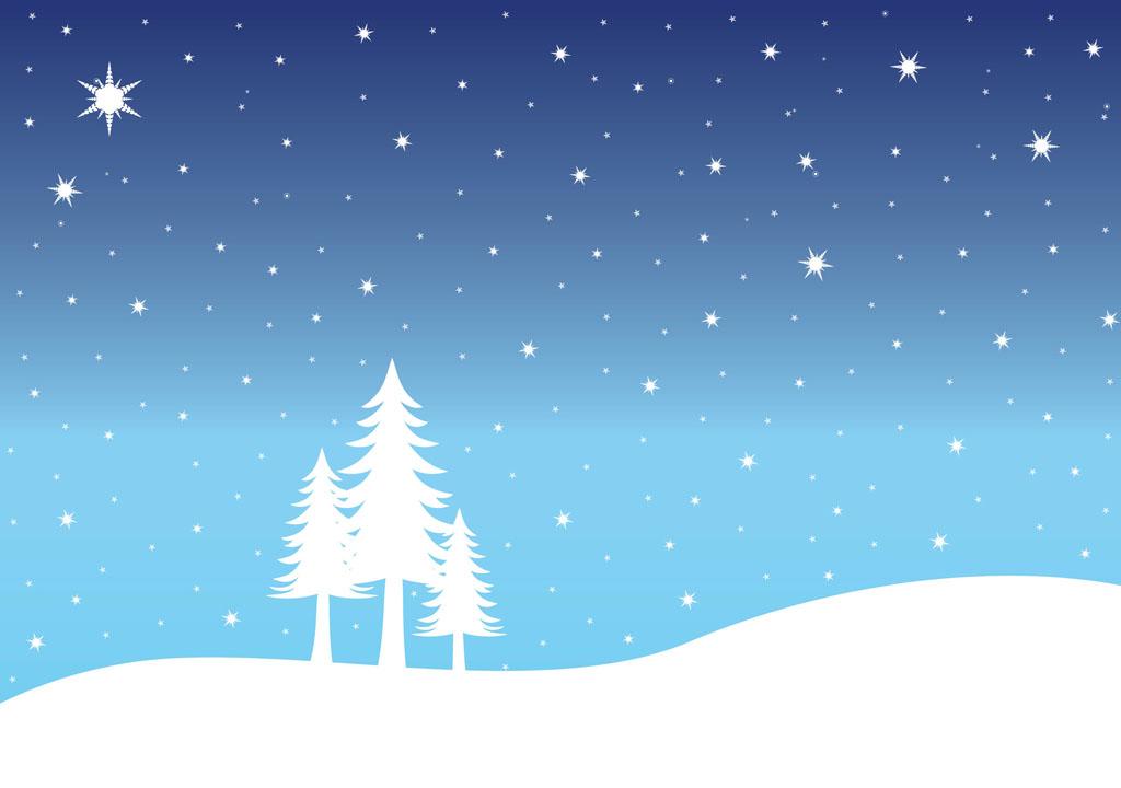 Christmas clipart landscape. Snow