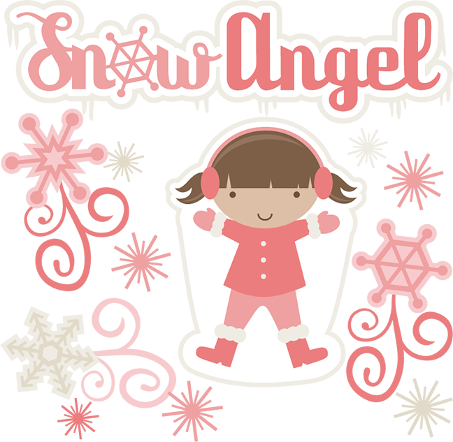 Angel svg cutting files. Clipart snow angle