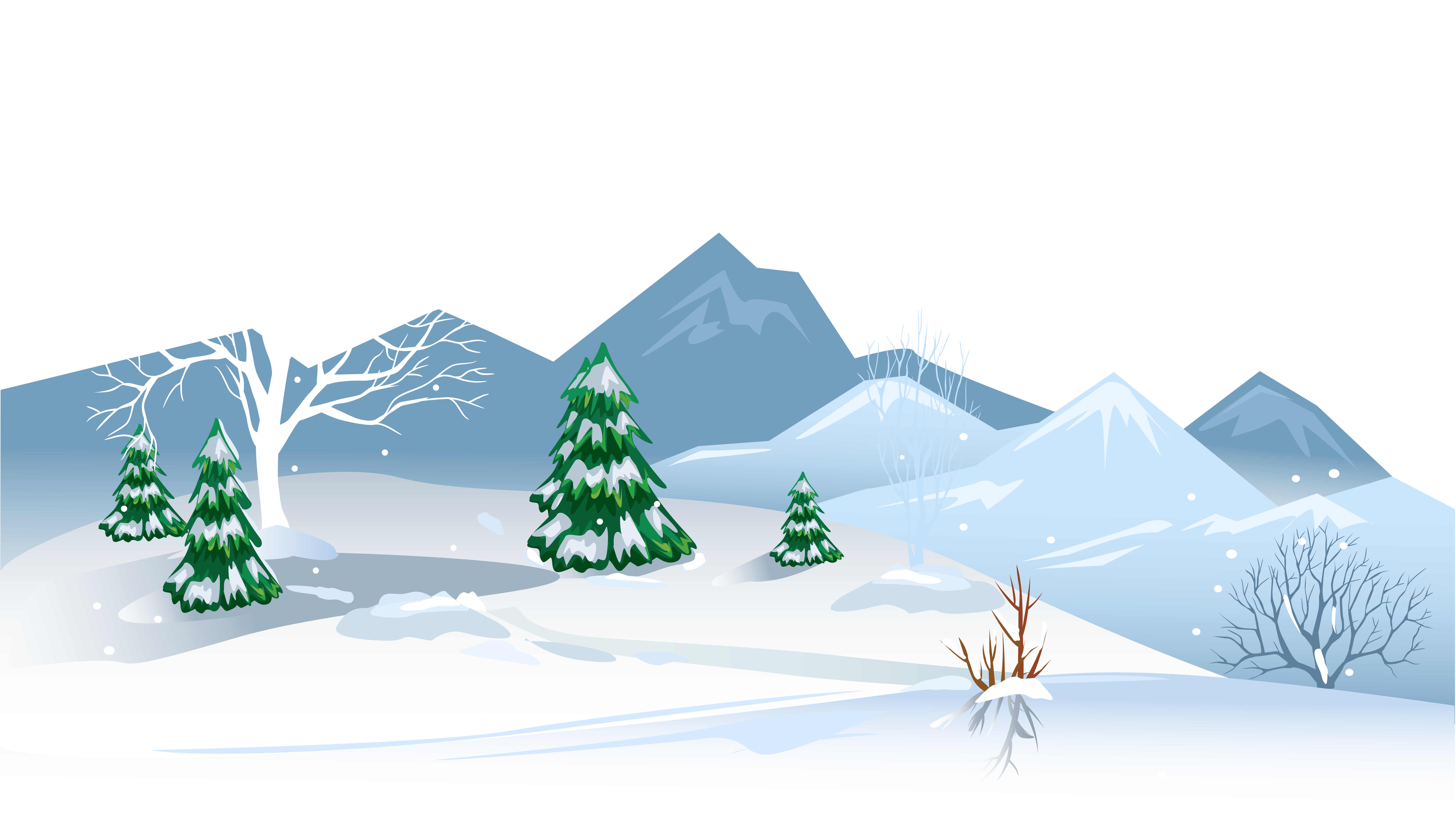 collection of background. Winter clipart snowy