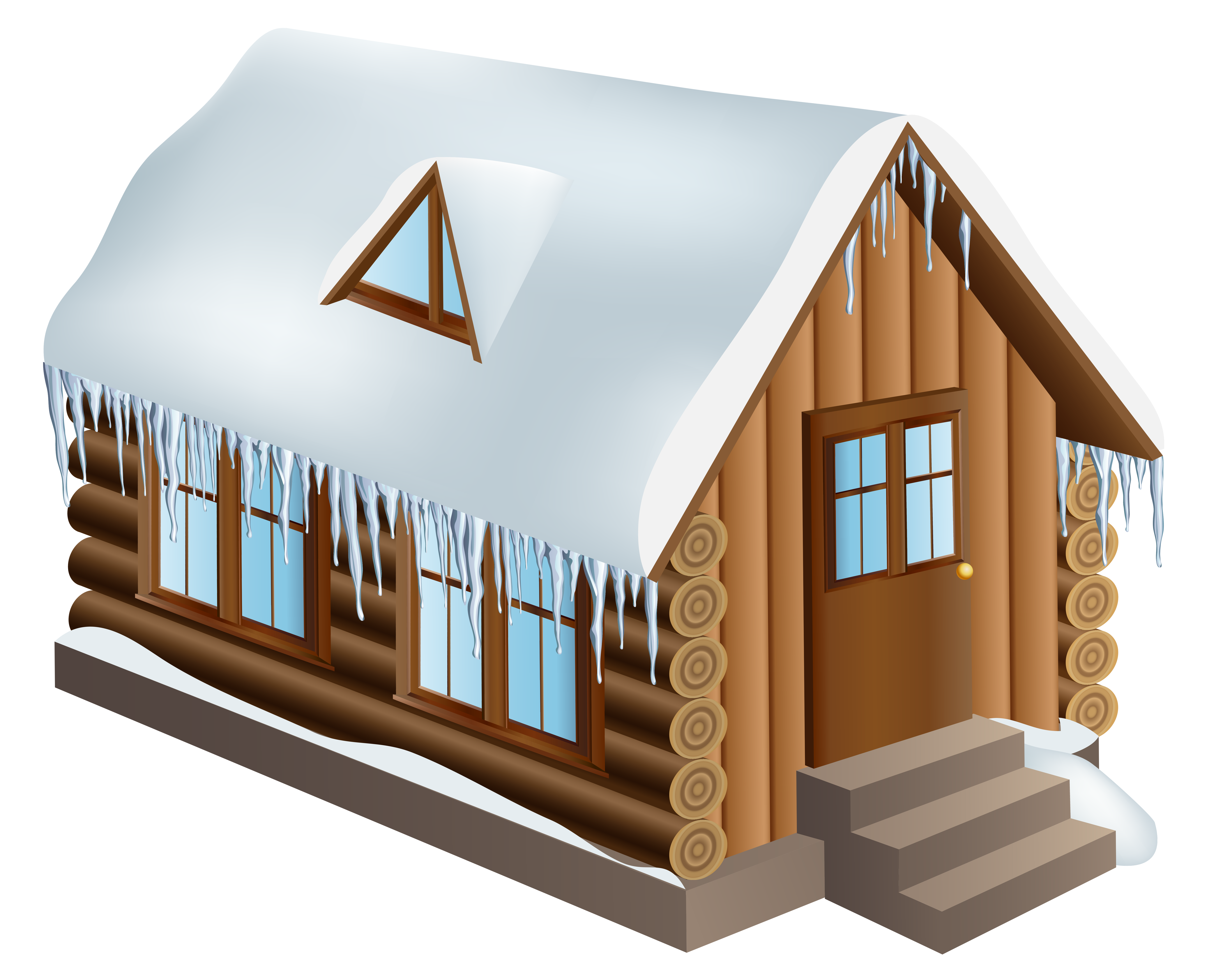 Cabin house png clip. Piano clipart winter