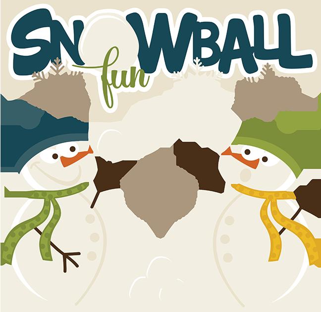 Words clipart winter. Snowball fun svg snow