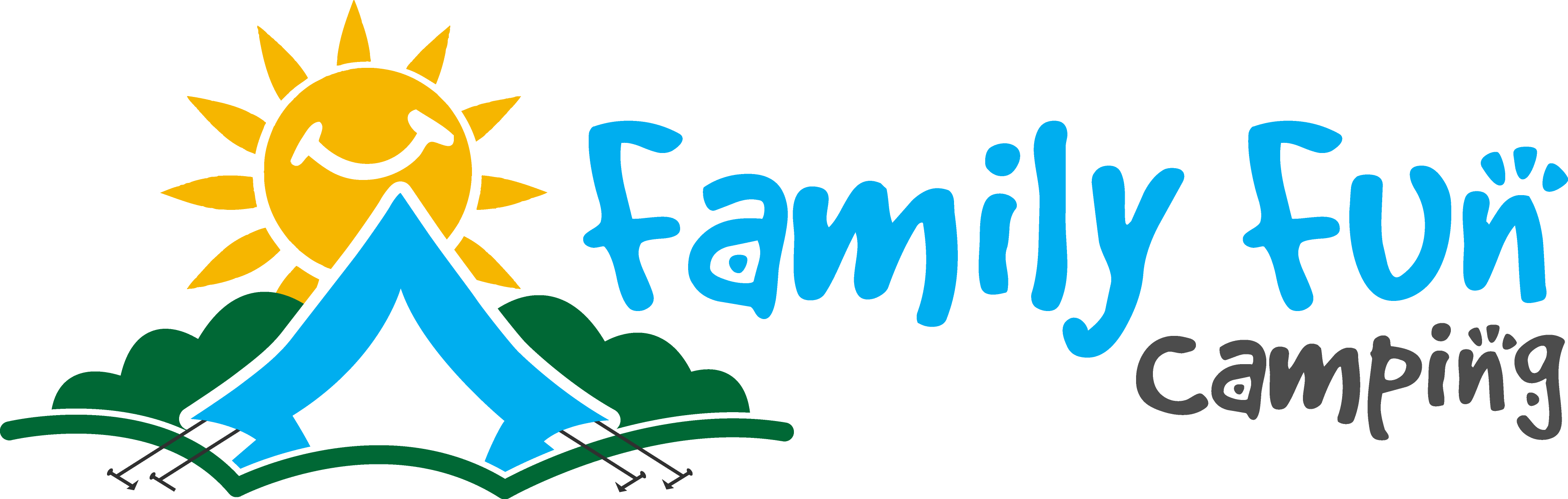 Camping with little children. Clipart tent family camp