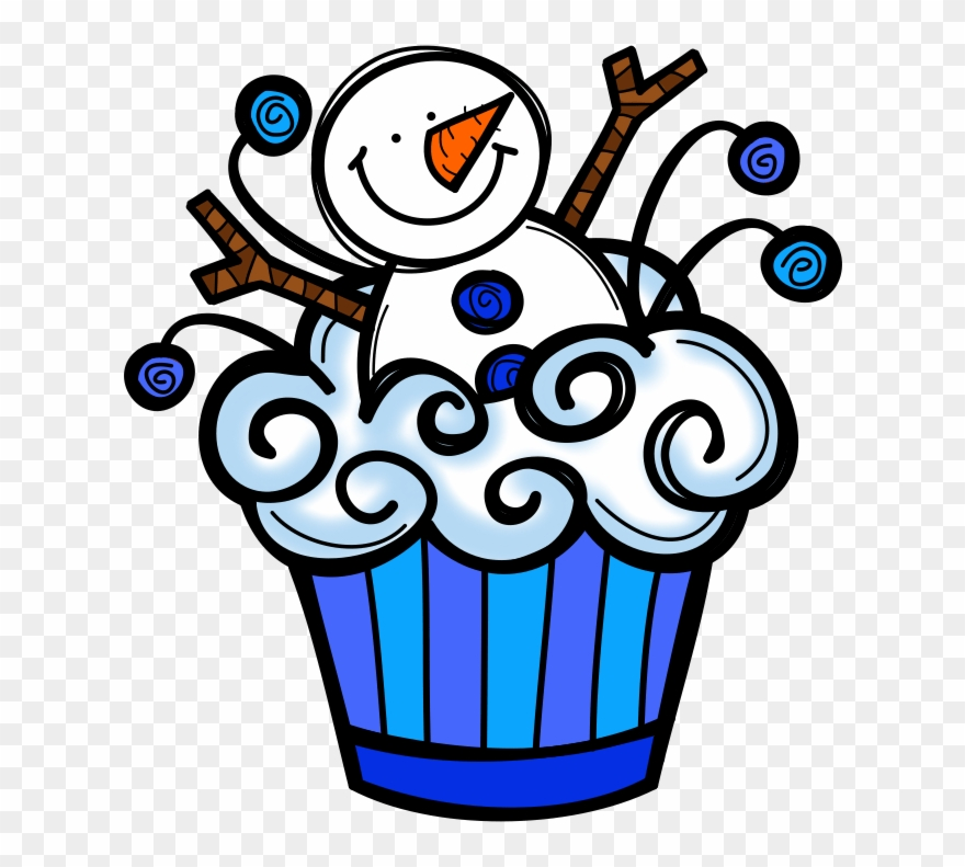 Cupcake clip art png. Cupcakes clipart winter