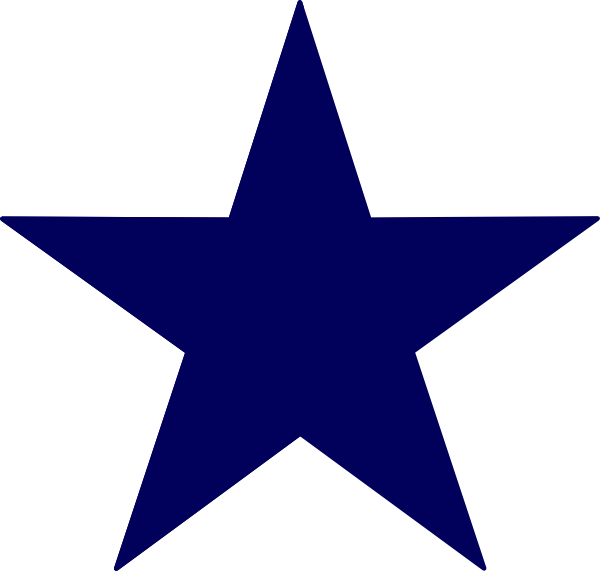 Dark Blue Star Clip Art at Clker