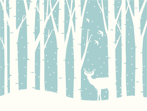 In clip art library. Deer clipart snow