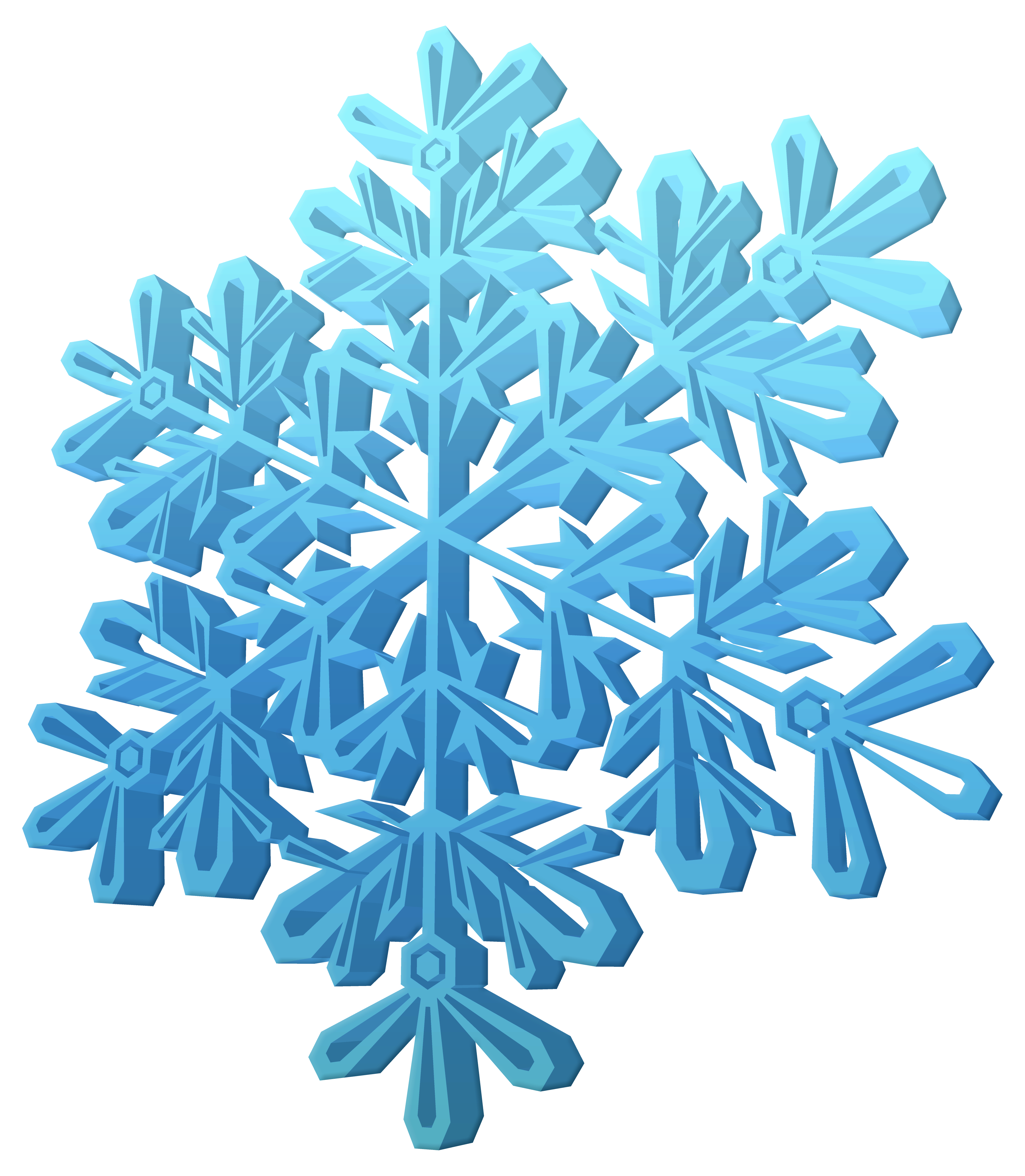 d snowflake clipart. Snowflakes border png