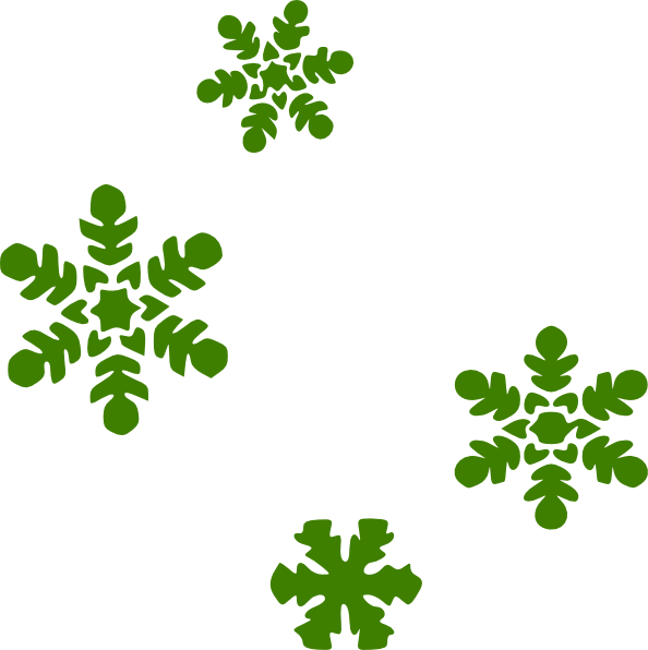 Clipart snow light snow. Green flakes clip art