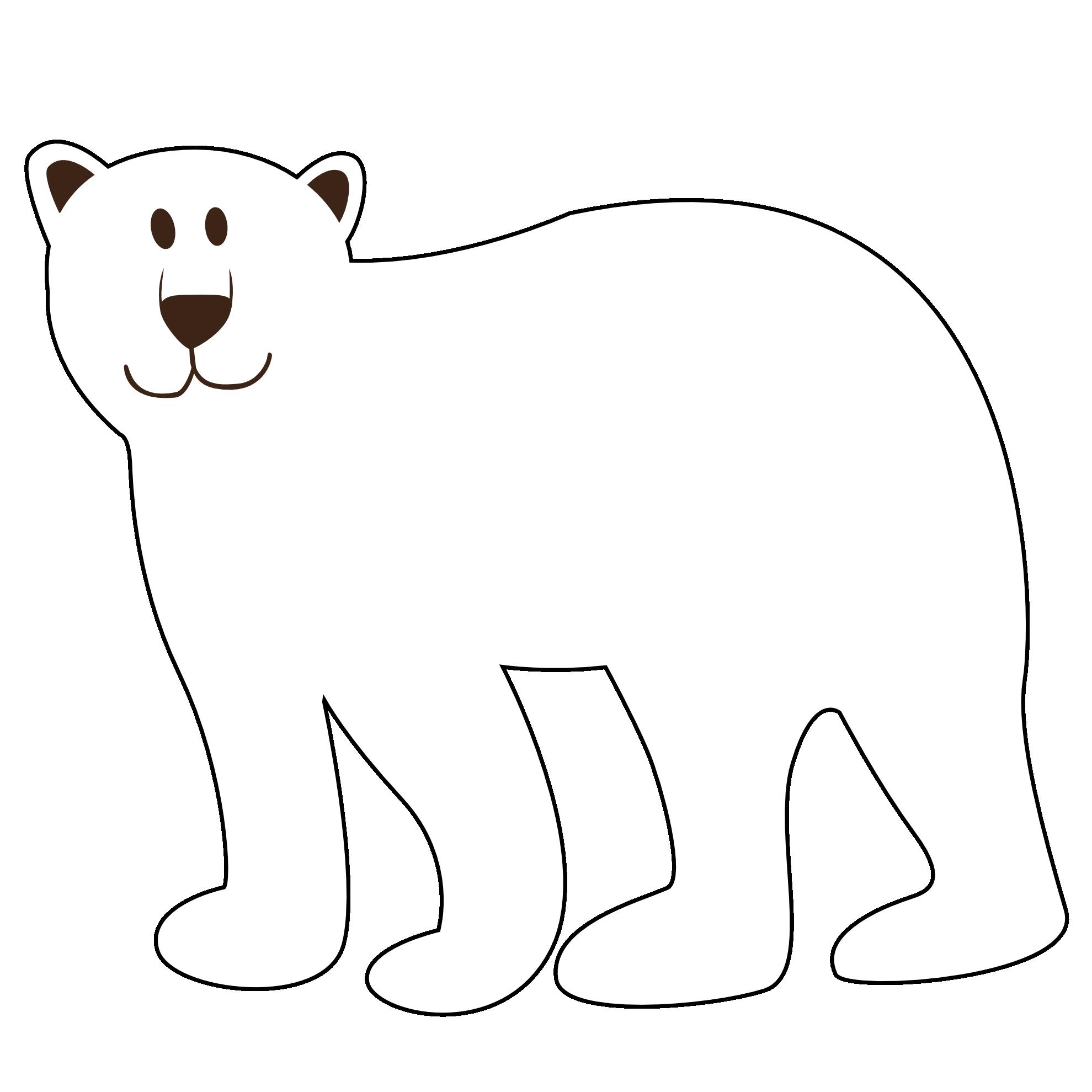 Polar bear clip art. Groundhog clipart coloring page