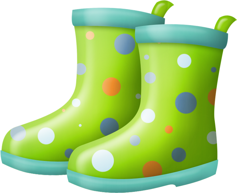 collection of boots. Wet clipart rain boot