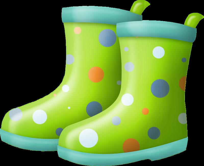 Wet rain boot
