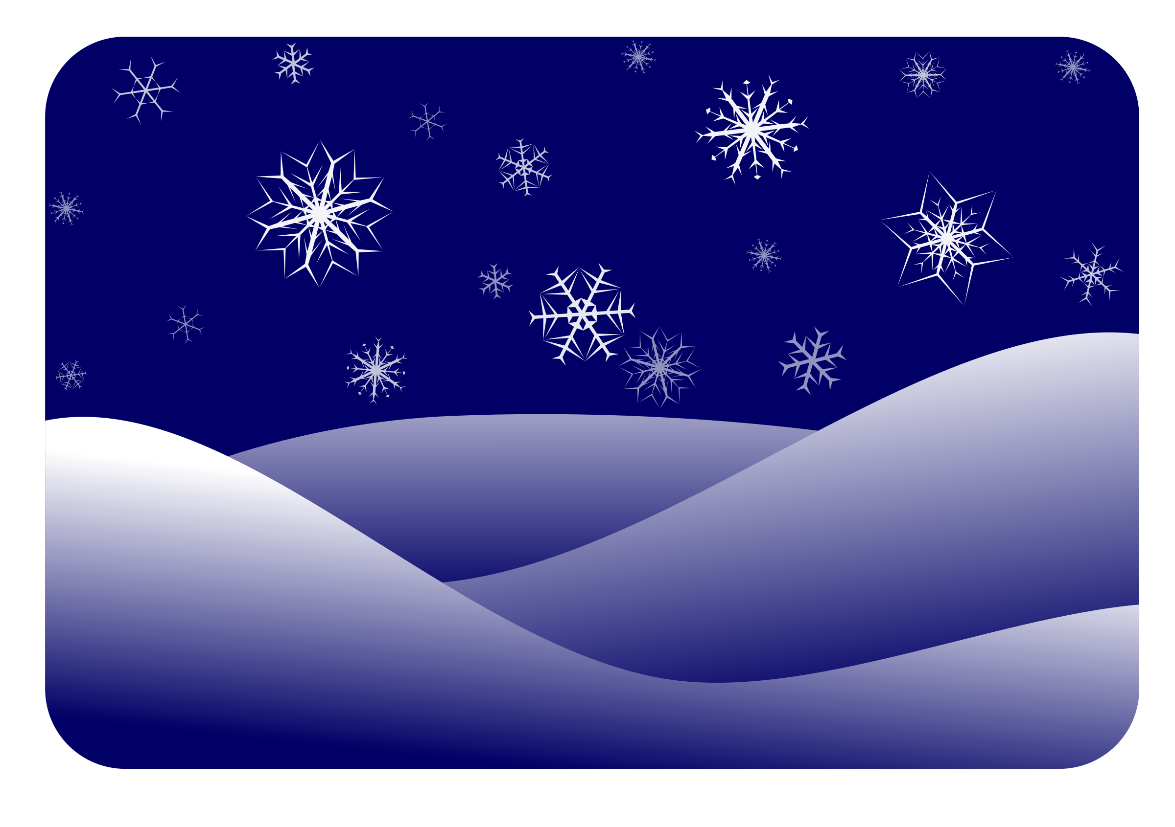 Winter big image png. Clipart snow scenery
