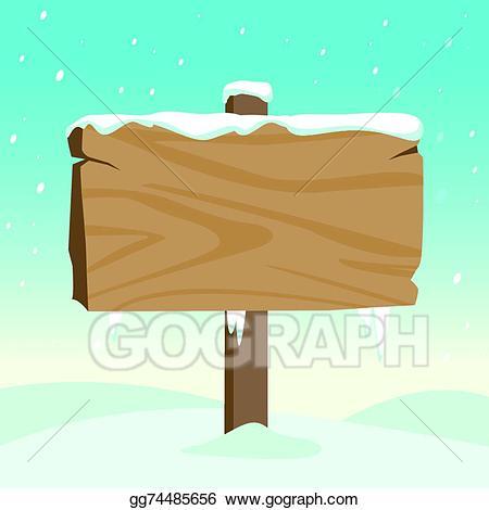 Eps vector blank wooden. Mailbox clipart snowy