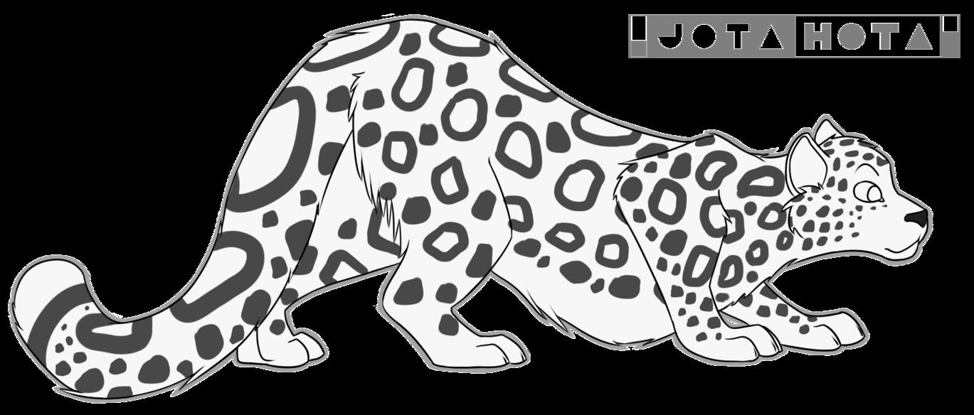 Jaguar clipart lineart. Snow leopard free by