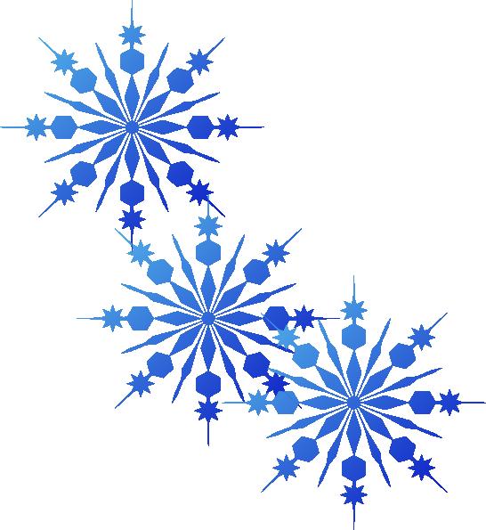 Snowflakes blue clip art. Winter clipart flake