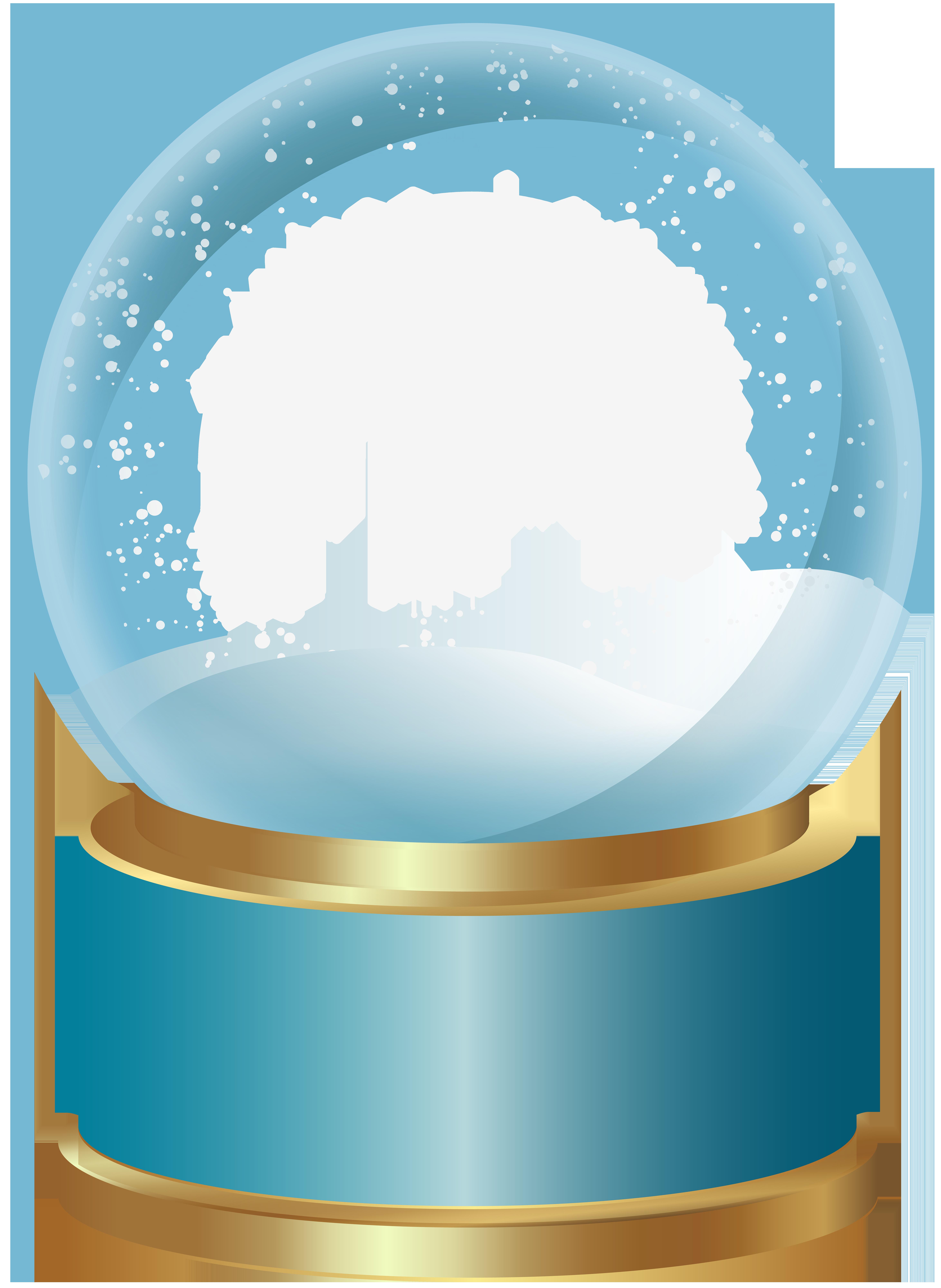 Globe clipart empty. Snow blue png clip