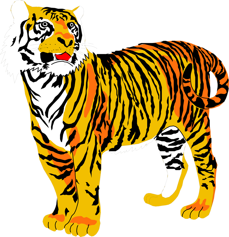 Tigers free stock photo. Clipart tiger abstract