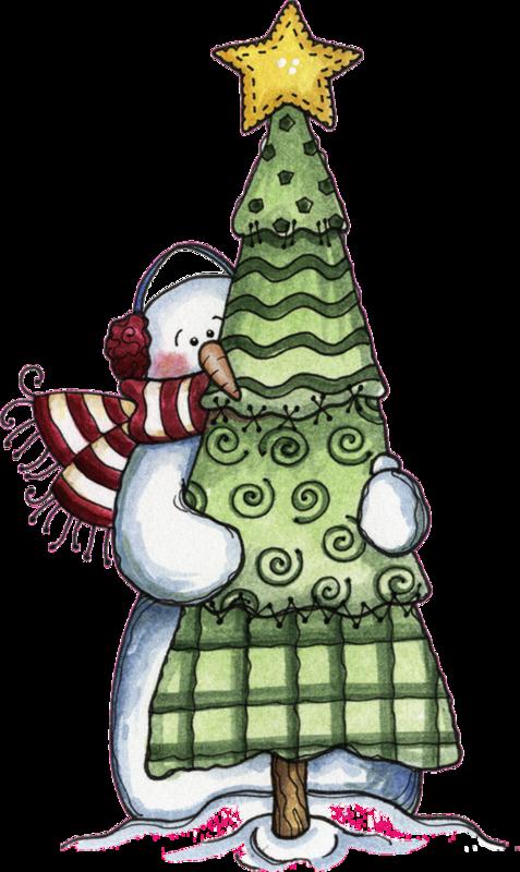 Hug clipart tree. Snowman hugging an evergreen