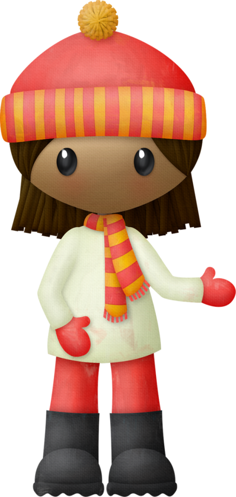 Winter clipart character. Girl png snow clip