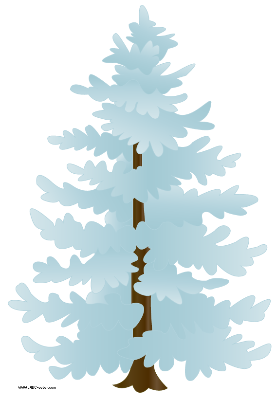 Covered raster . Tree clipart snow