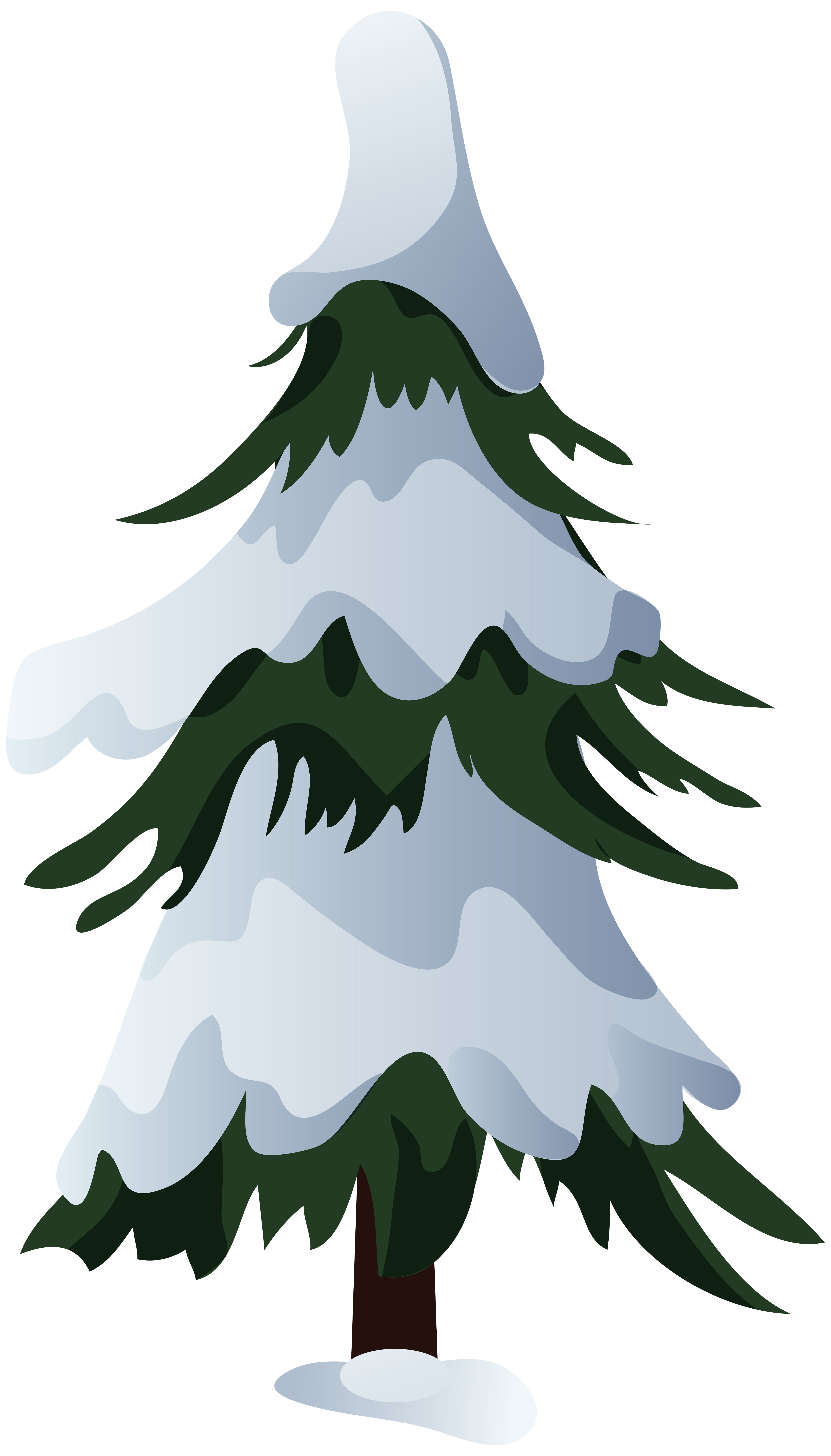 Tree clipart snow. Christmas pine transprent
