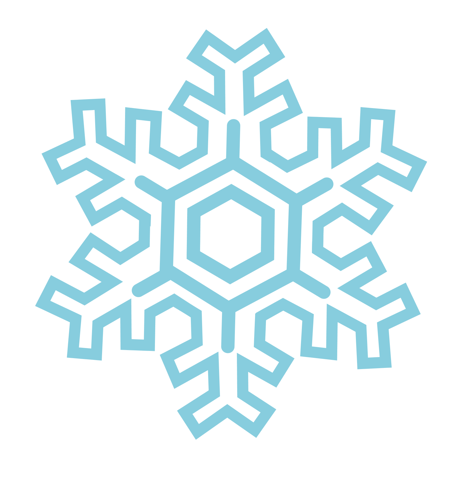 collection of snow. Snowflake vector png