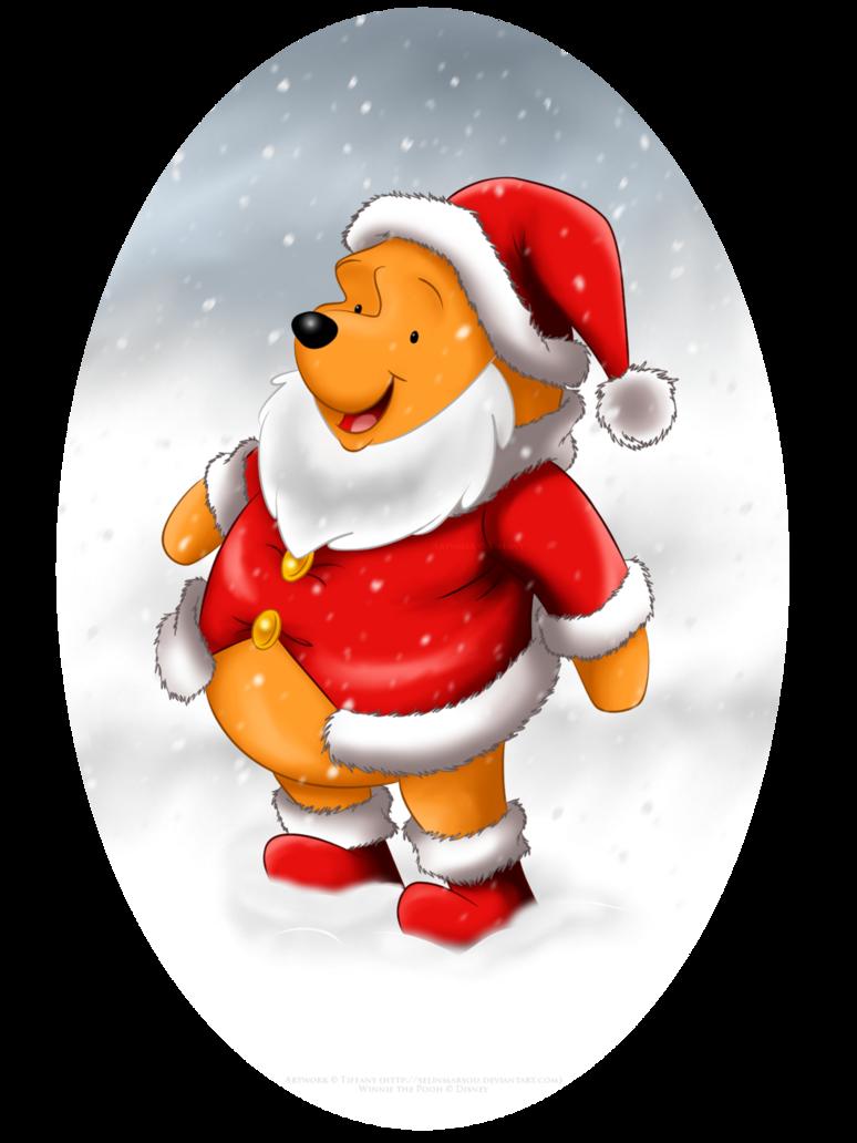 Thanks clipart christmas. Winnie the santa by