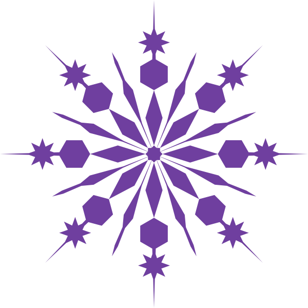 Winter clipart pink. Snowflake clip art purple