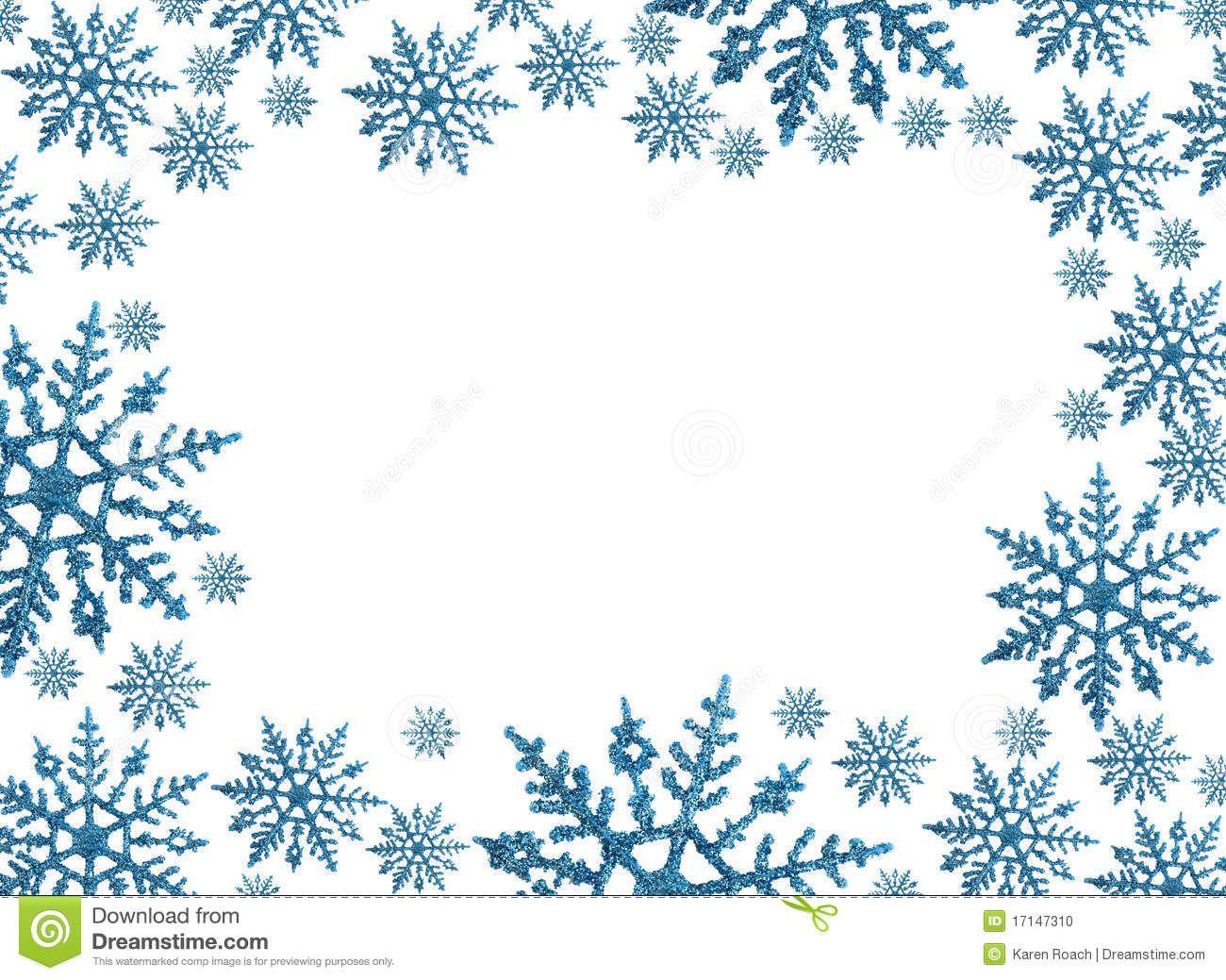 Snowflake circle border clip. Winter clipart boarder